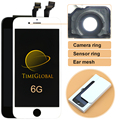 1 unids clon pantalla lcd asamblea digitalizador para iphone 6 4.7 inch digitalizador de pantalla táctil + anillo de la cámara, freeshipping