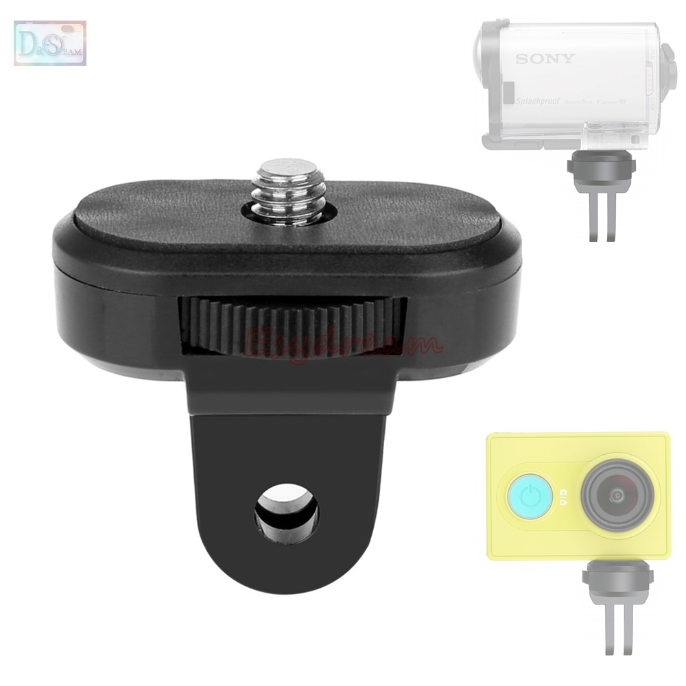 Tripod Screw Mount Adapter 1/4 Monopod <font><b>Accessory</b></font> for <font><b>Sony</b></font> Action FDR-X3000 HDR-<font><b>AS30V</b></font> HDR-AS100V HDR AS15 AS20 <font><b>AS30V</b></font> AS300 AS200V image