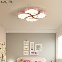 Wantye современный Macarons круглый светодиодный Потолочные светильники для детей гостиной Спальня Nordic Simple Home Освещение с Дистанционное управлен