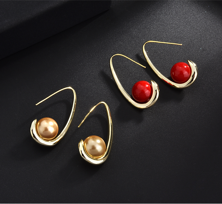 fashion pearl gold stud drop earrings 01 (2)