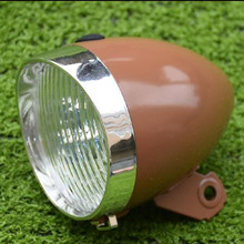Q404 free shipping Bicycle retro lights headlamps warheads British cycling headlights 3LED molded case