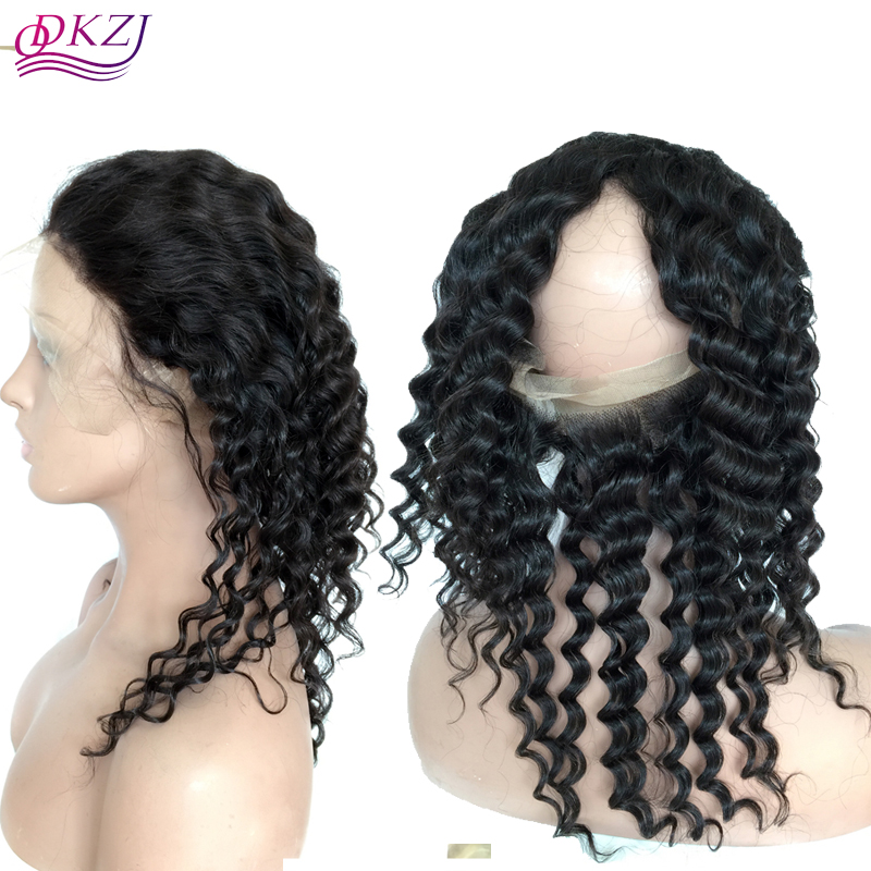 Здесь можно купить  8A Pre Plucked 360 Lace Frontal Closure Peruvian Virgin Hair Deep Wave Natural Hairline Lace Band Frontal Closure With Baby Hair  Красота и здоровье