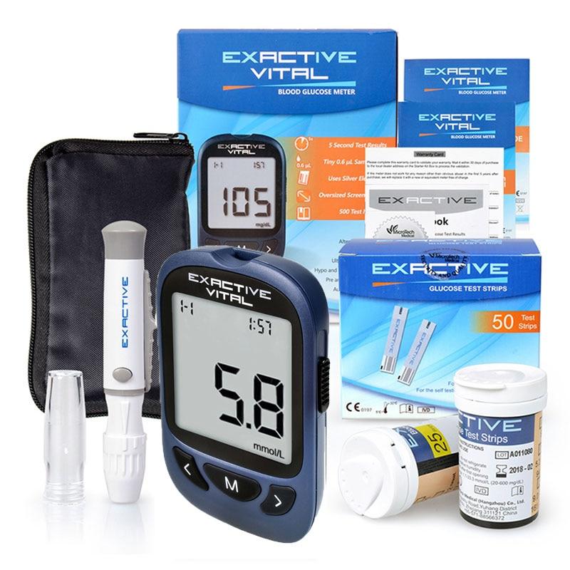 Микротех медицинский тест для диабетиков, глюкометр, измеритель уровня глюкозы в крови, 50 полосок + 50 ланцетов