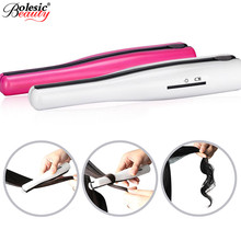 Big discount NEW Hair Straightener iron Rechargeable Mini Cordless Hair Curler Flat Iron Portable Hair Care Styling Straightening Irons