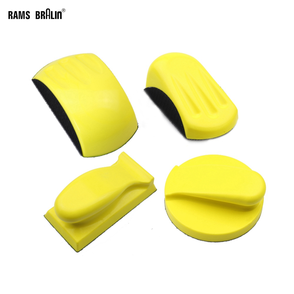 RAMS BRALIN Sanding Disc Holder Sandpaper Backing Polishing Pad Hand Grinding Block