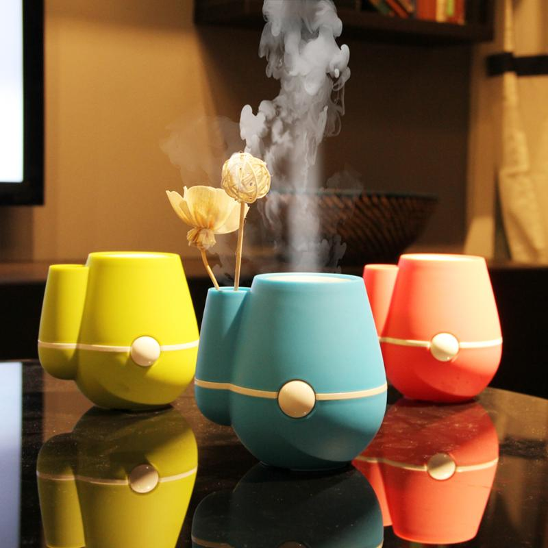New USB Flower Vase Shape Home Office 220ml Air Mist Purifier Ultrasonic Humidifier Aroma essential diffuser mist maker fogger mini usb air humidifier star purifier aroma diffuser steam desktop cooling mist maker air fogger for office home