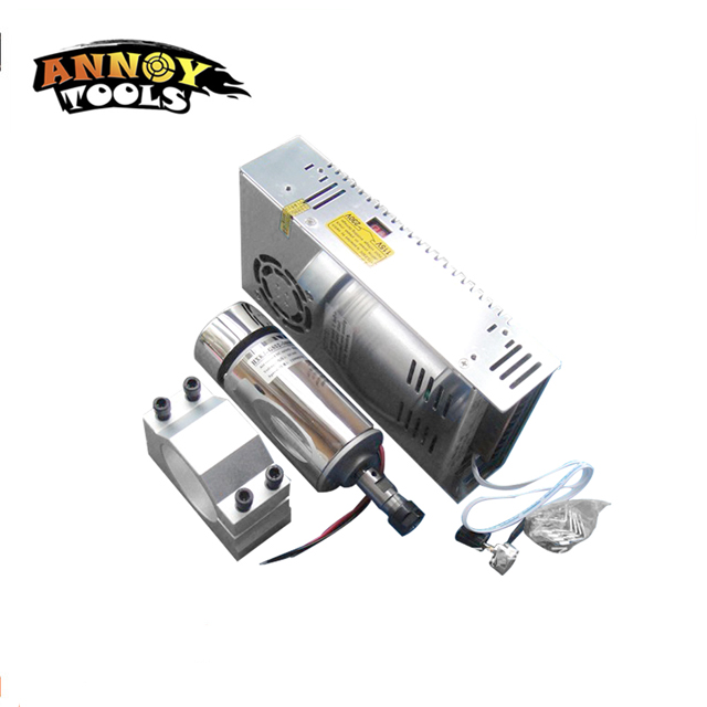 ANNOYTOOLS HIGH QUALITY 300W DC Air Cooled Spindle Motor + 52 mm Clamp (contain four screws) + Speed control Power SupplyANNOYTOOLS HIGH QUALITY 300W DC Air Cooled Spindle Motor + 52 mm Clamp (contain four screws) + Speed control Power Supply