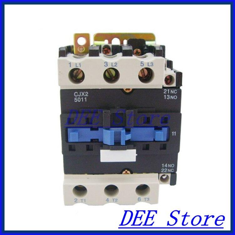 Motor Starter Relay CJX2-5011 contattore AC 380 V 50A Tensione nel punto di argento opzionale LC1-DMotor Starter Relay CJX2-5011 contattore AC 380 V 50A Tensione nel punto di argento opzionale LC1-D