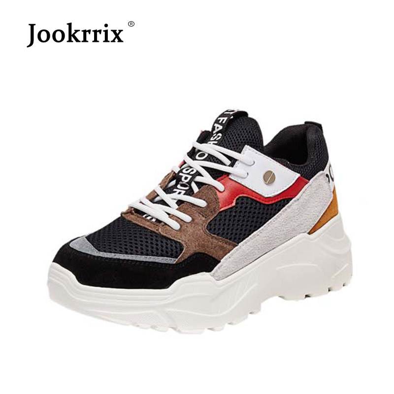 ... Platform chaussure Fashion All footware 2018 Female Shoes Autumn  Jookrrix Breathable Sneakers Match Casual Brand Fashion ... 2d9f8593c6ca