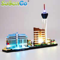 Juego de luces LED SuSenGo para arquitectura Las Vegas bloques de construcción juego de iluminación Compatible con 21047 (modelo no incluido)