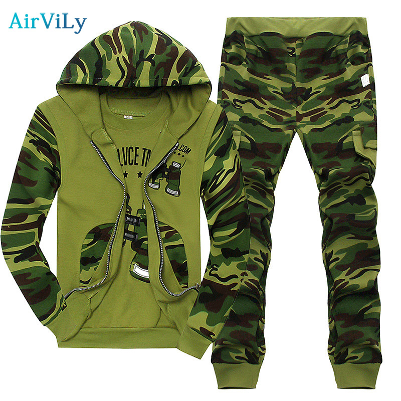 Children's Camouflage Suit Sports Kids Clothing Sets Boy 2018 New Spring Autumn Boys Uniform Three-piece Hooded T shirt Pants kids clothes sets wholesale spring and autumn boys sports leisure suit t shirt hoodie long pants free shipping in stock