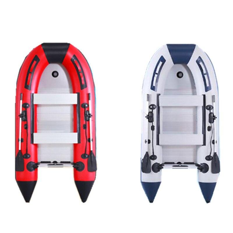 Canot pneumatique en caoutchouc PVC Kayak de bateau 0.9 MM d'épaisseur bateau de pêche aéroglisseur bateaux 1 à 4 personnes aviron moteur hors-bord
