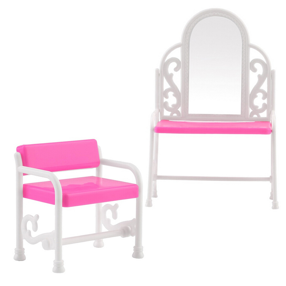 Nk One Set Kid 39 S Play Toys Plastic Dresser Chair Set Dollhouse Furniture Doll Accessories For