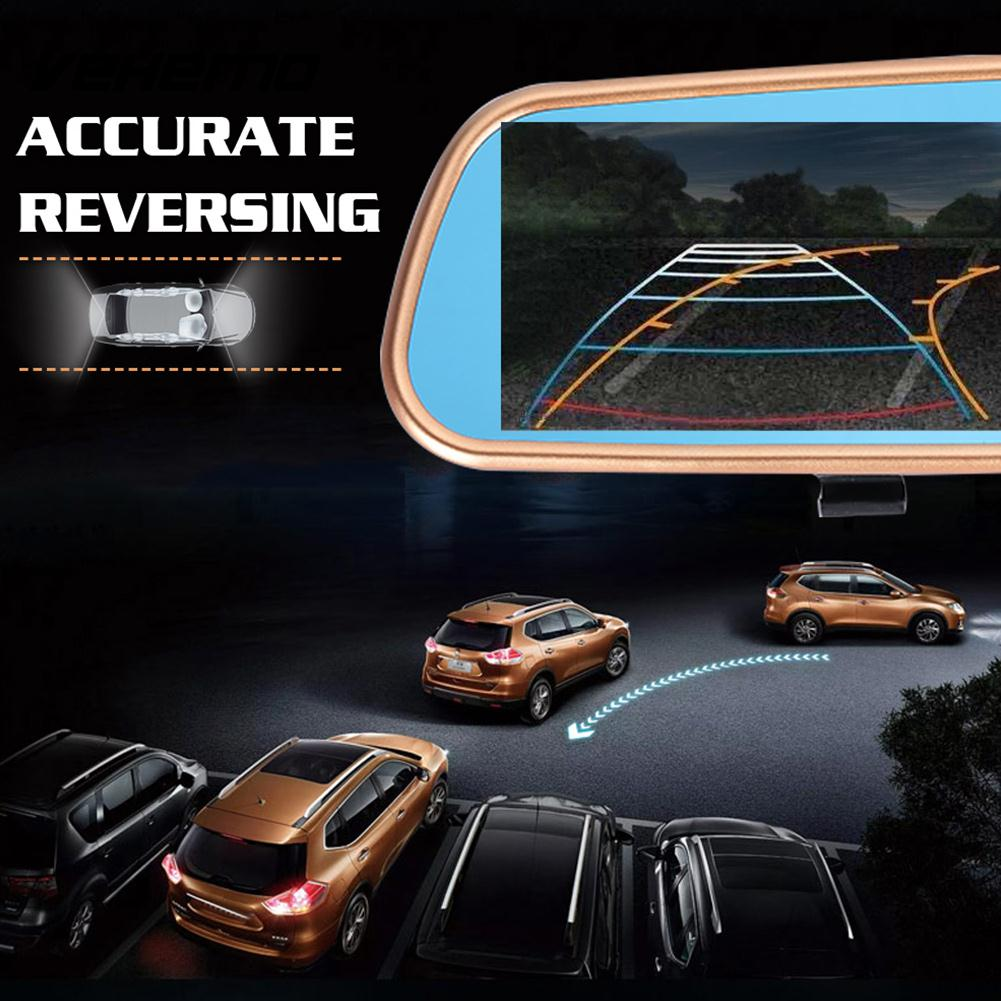 Vehemo 3.2 Inches Rearview Car Dash Cam DV Driving Recorder Smart Camcorder Car Windshield DVR