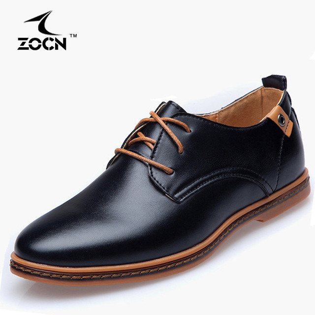 Hot Sale Big Size 48 Men Flats Shoes Black PU Leather Shoes Men Oxford Shoes Zapatos Hombre Chaussure Homme