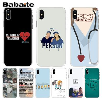 Babaite You're My Person Greys Anatomy Crafted DIY Phone Case For iphone 8 8plus and 7 7plus 6s 6s Plus 6 6plus 5s Cellphones image