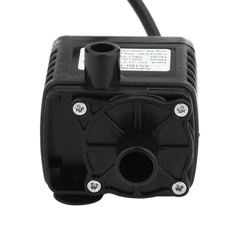Двигатель погружной насос, работающего на постоянном токе 12 В в мини электрический циркуляционный насос горячей воды бесщеточный для гидропоники медицинский охлаждающий 280L/ч Авто-Стайлинг