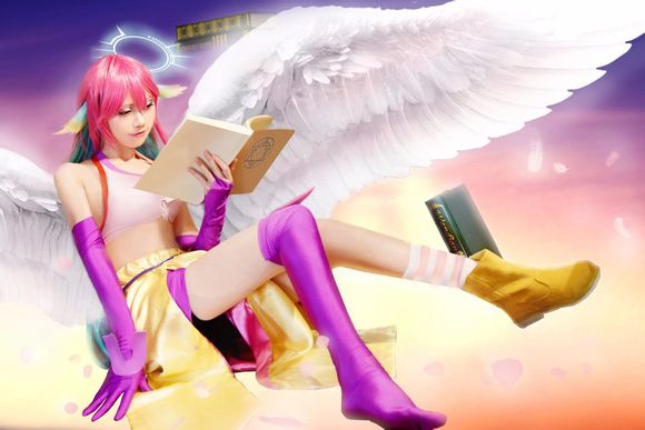 No Game No Life Jibril Uniforms Cosplay Costume + Wings