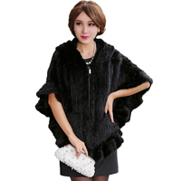 Real Mink Fur Solid Zipper Coat Women Full Leather Half Batwing Sleeve Ruffles Overcoat With Fur