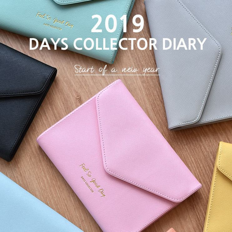 Latest Collection Of 2019 Days Collection Diary Cool Business Fashion Wallet Design Weekly Planner 176p Korean Fashion Agenda Gift Be Friendly In Use