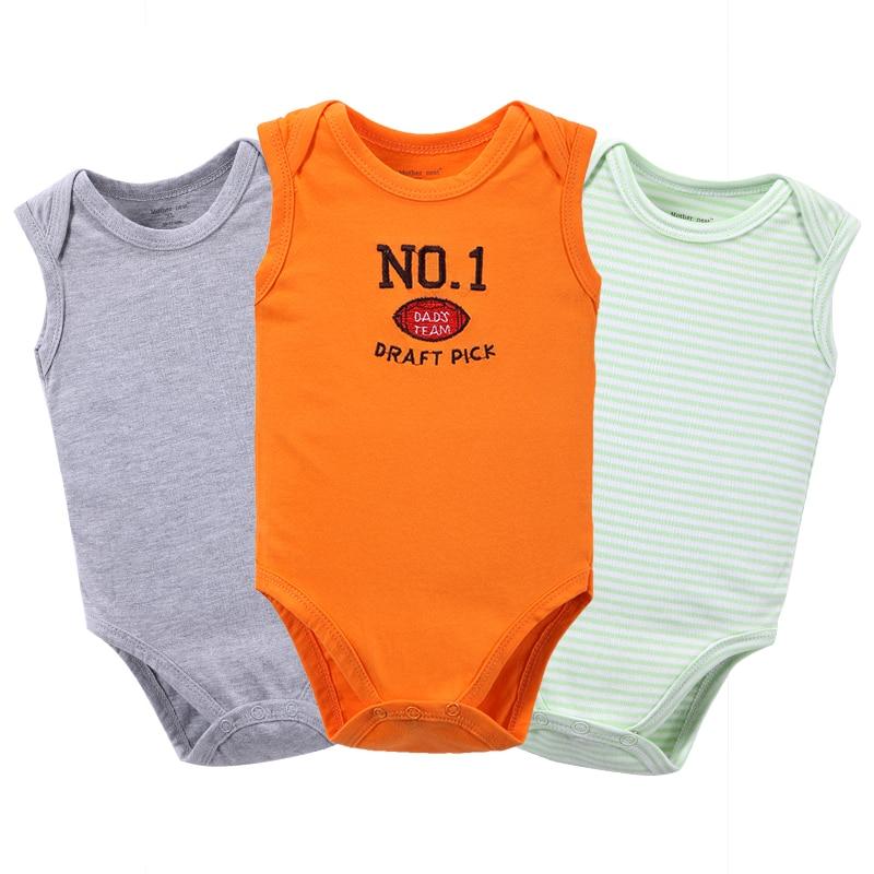 Originele Babykleding.Originele Merk Baby Mouwloos Bodysuit 3 Stks Baby Body Vest Kleding