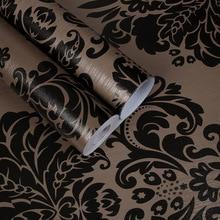 10 м европейские ПВХ водостойкие самоклеющиеся Дамасские обои для спальни дома ремонт ТВ фоновая Настенная Наклейка papel де parede
