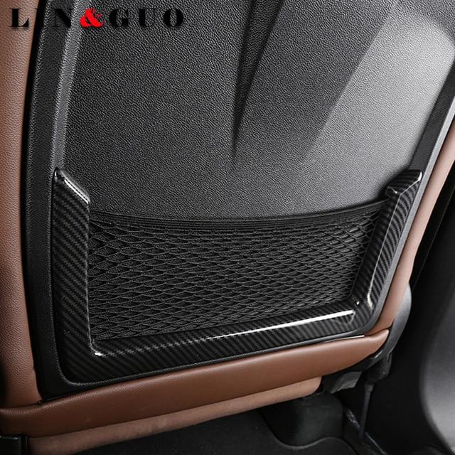 For Alfa Romeo Giulia Carbon Fiber ABS Chrome Seat Back Frame - Alfa romeo car parts