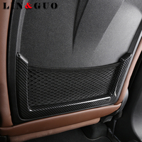 For Alfa Romeo Giulia 2017 Carbon fiber ABS Chrome Seat Back Frame Cover Trim Auto Parts Car Accessories Set of 2pcs