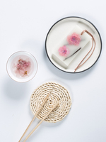 DIY Sakura Aromatherapy tablets fragrant wax candle sheet candle Plaster pendant For gift