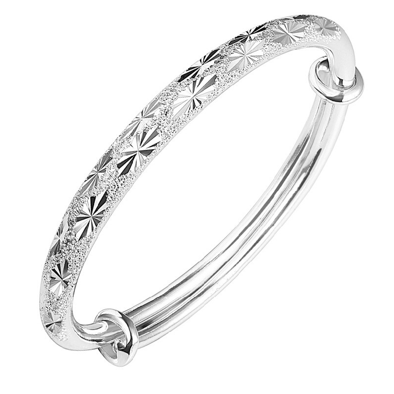 925 Sterling Silver Bangle for Women Fashion Gypsophila Star Cuff Bracelet Bangles Jewelry Christmas Gift