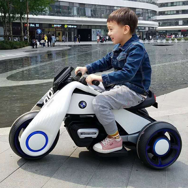 Children's Electric Motorcycle Toy Car with Early Education Function Baby Ride on Toy Car Can Sit on A Double-engine Motorbike