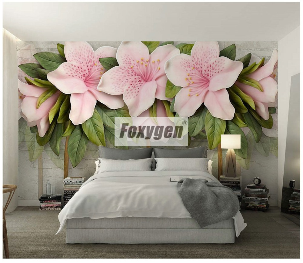 Customzied NON-WOVEN Wallpaper mural with kinds of nice 3D flowers animalsForest abstract landscapes cities designs designs and patterns (293)