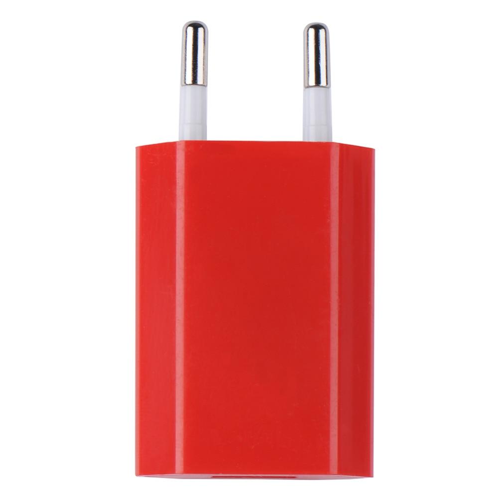 Mbledhës shumëngjyrësh EU Plug USB i telefonit, 5V 1A AC110V-240V - Aksesorë dhe pjesë të telefonit celular - Foto 2
