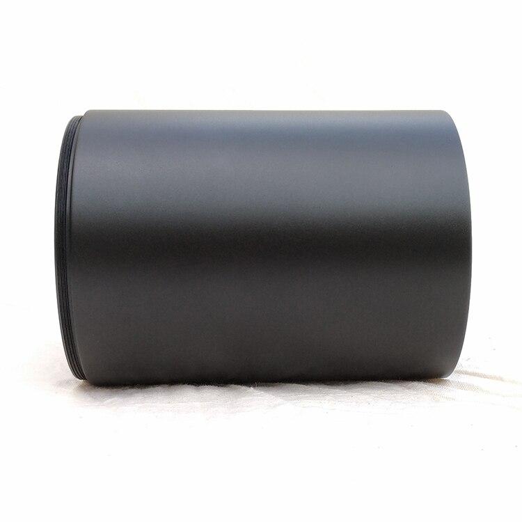 75 56mm de anodização dura preto fosco