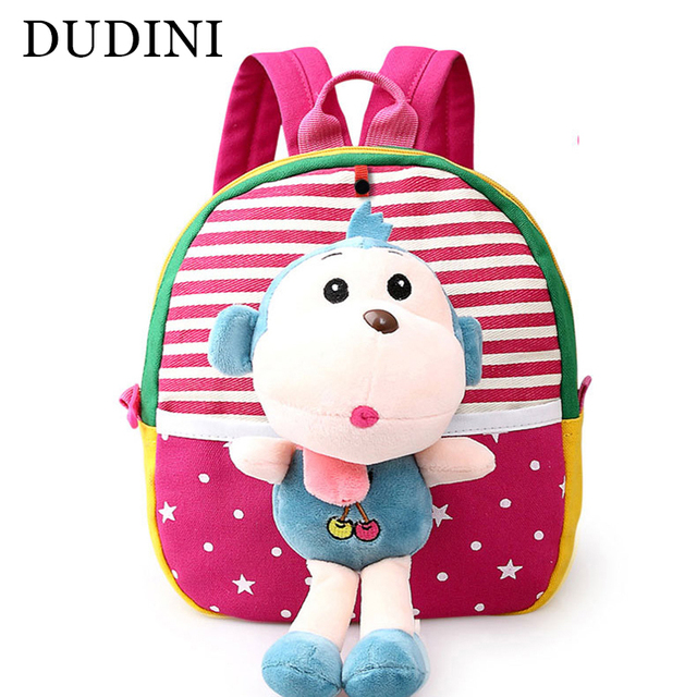 14e59d377a DUDINI Korean Version Of The Cartoon Cute Children s School Bags Animal  Prints Backpack Fashion Young Children
