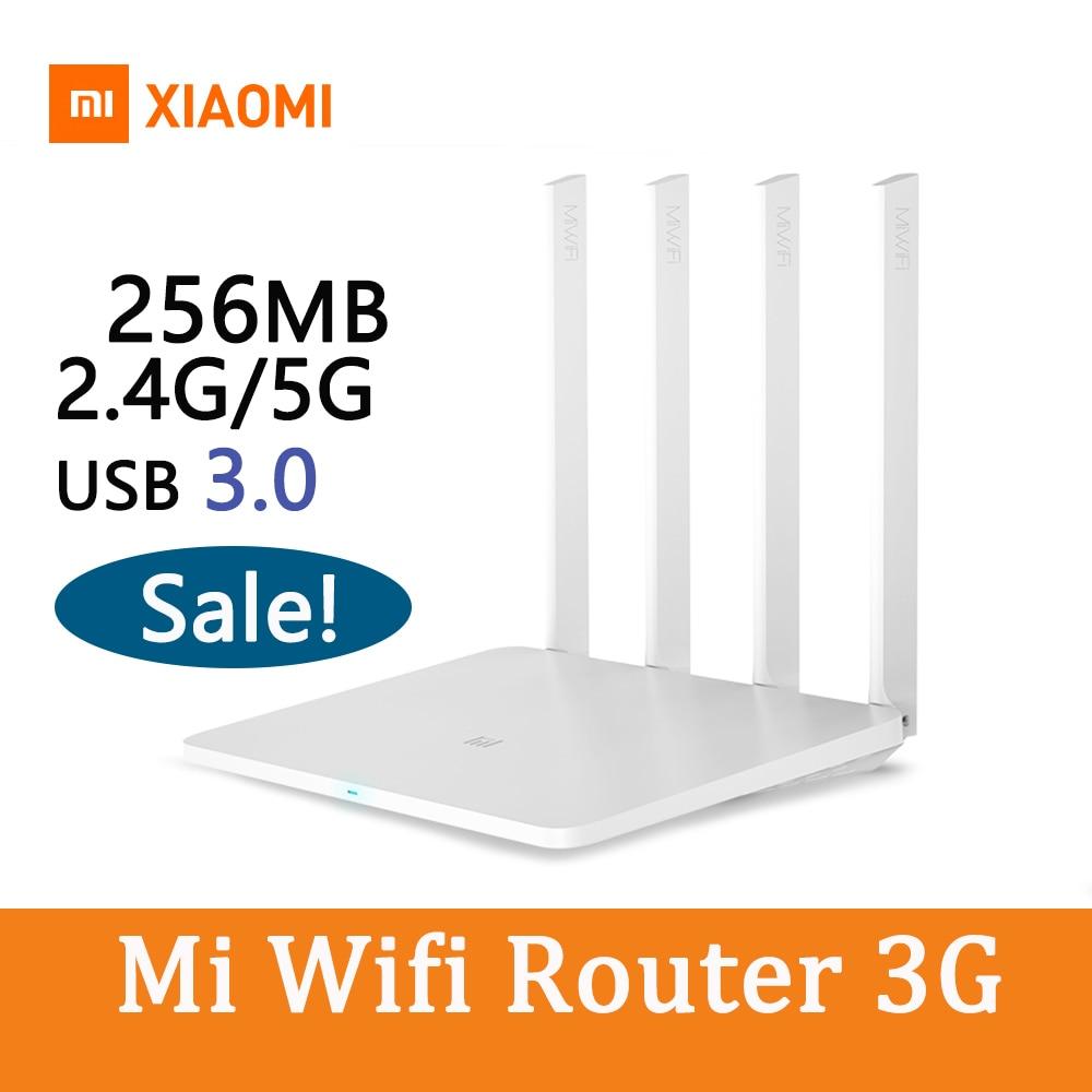Xiao mi mi Routeur répéteur wi-fi 3G avec 256 MO de Mémoire 128 MB Grand Flash Dual Band 2.4G/ 5G USB 3.0 Roteador APP Contrôle