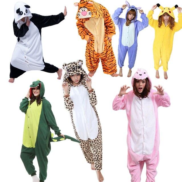 538815d0a3 Invierno Adultos Animales Onesies Pijama Lindo de Halloween de Las Mujeres  ropa de Dormir de Cosplay