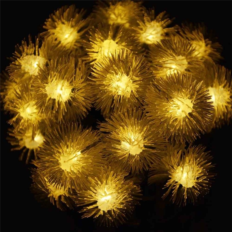Premium Quality Waterproof Christmas Solar Light String 20LED Chuzzle Ball Solar String Outdoor Lights for Home Garden Wedding ...
