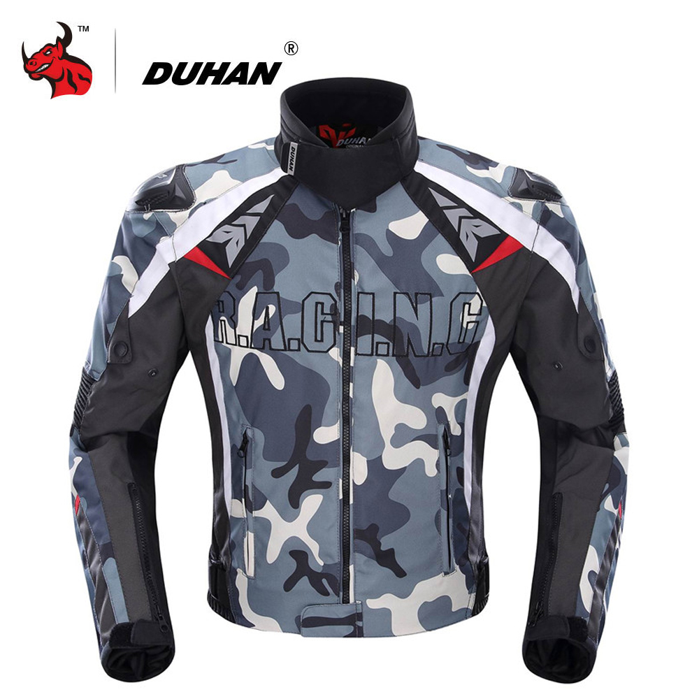 DUHAN Motorcycle Jacket Men Camouflage Motocross Off Road Racing Jacket Protective Gear Moto Guards Motorcycle Protection