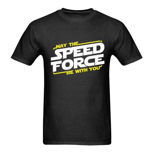 T Shirt Shop Crew Neck Short-Sleeve Fashion 2018 Mens May The Speed Force Tee Shirts