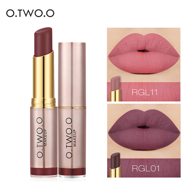 O. Dos. O pintalabios mate tatuajes de labios impermeables cosméticos hidratante de larga duración Rosa oro revolución lápiz labial maquillaje Maquillage