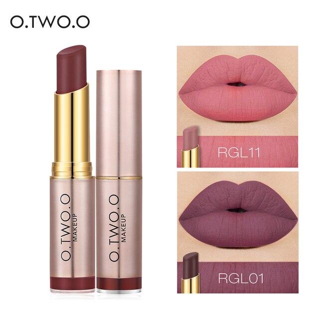 O.TWO.O Matte Lipstick Waterproof Lip Tattoos Cosmetic Long Lasting Moisturizer Rose Gold Revolution Lipstick Makeup Maquillage