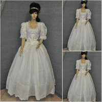 Hot sale! Customer-made 19 Century Vintage Victorian Dresses 1860s Civil War Southern Belle Gown Cosplay dresses US4-36 C-616