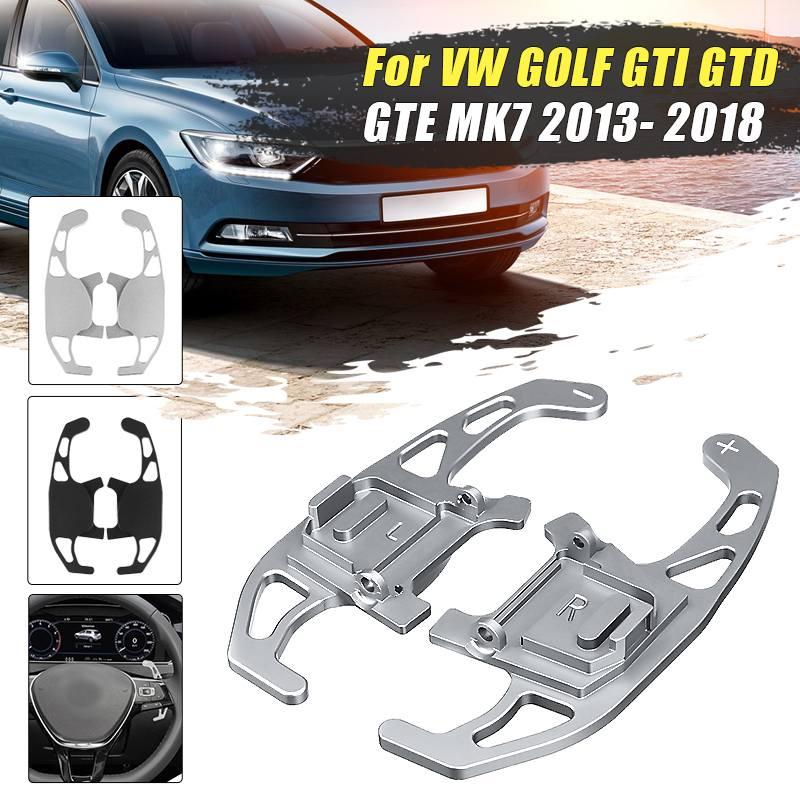 2Pcs Auto Volante Paddle Shift Estendere Leva Del Cambio Per VW GOLF GTI R GTD GTE MK7 7 Per POLO GTI Scirocco 2014 2015 2016-2018
