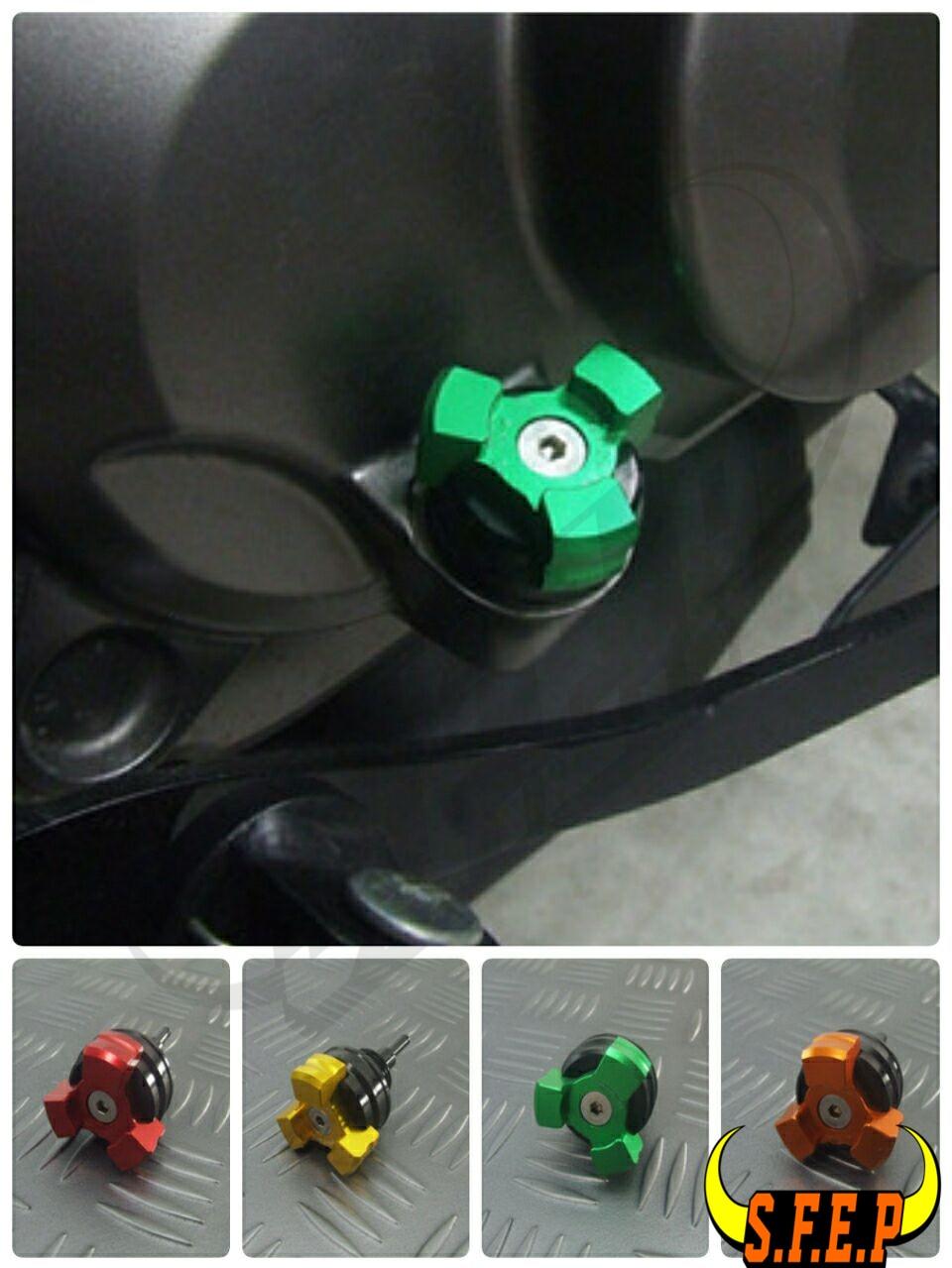 Motorcycle CNC Aluminum Oil Dip Stick Filler Cap For Kawasaki Z125/Z125Pro 2016-2017