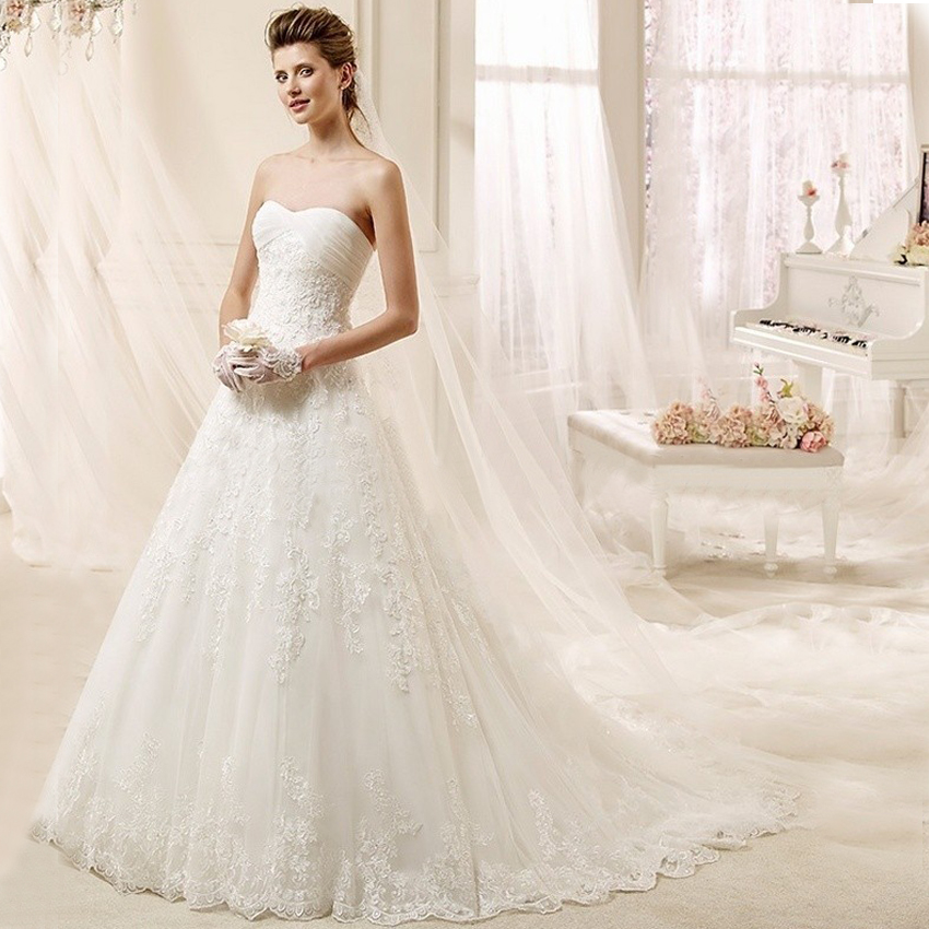 Popular Strapless Country Lace Wedding Dress-Buy Cheap Strapless ...