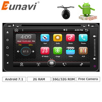 Eunavi 2 din Android 7.1 samochodowy odtwarzacz dvd radio gps dla Toyota Stare Camry VIOS Hilux Prado RAV4 Prado 2003 2004 2005 2006 Quad rdzeń