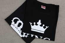 2017 King Queen print women shirts
