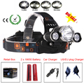RJ-3000 8000 Lumen T6 4-mode Headlight Head Light Flashlight Linterna Frontal Headlamp&Charger