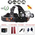 RJ-3000 8000 Lumen T6 4-mode Headlight Head Light Flashlight Linterna Frontal Headlamp&Charger